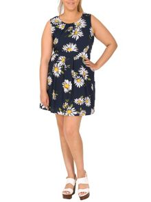 Samya Plus Size Daisy Print Dress