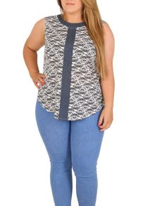 Samya Plus Size Printed Top