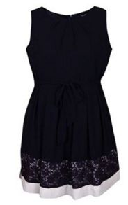 Samya Plus Size Lace Hem Skater Dress