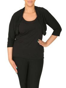 Samya Plus Size Bolero With Folded Collar
