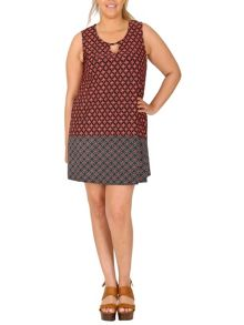 Samya Plus Size Moorish Print Swing Dress
