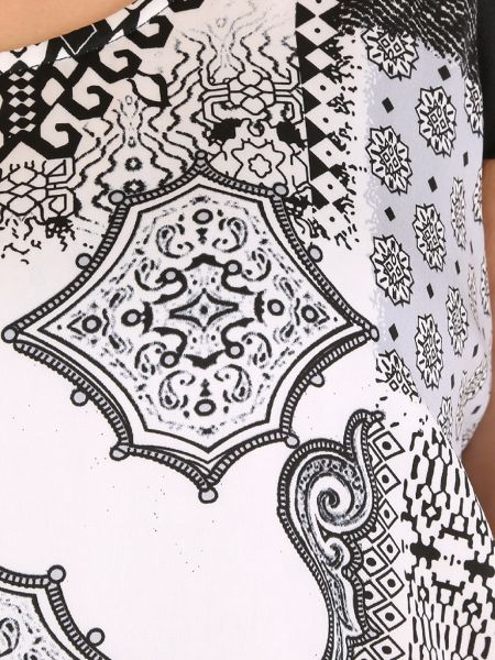 Samya Plus Size Monochrome Print Shift Dress