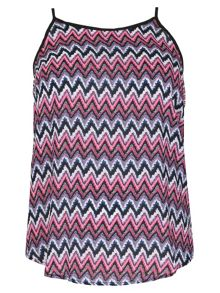 Samya Plus Size Chevron Printed Top