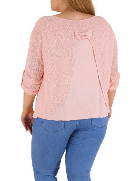 Samya Plus Size Oversized Rolled Cuff Top