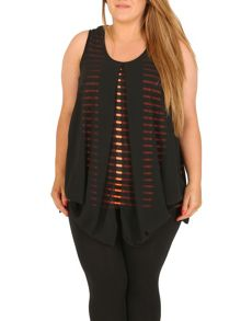 Samya Plus Size Stripe Top