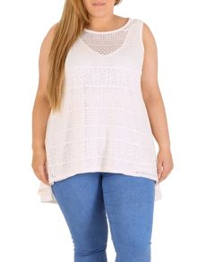 Samya Plus Size Crochet Lace Top