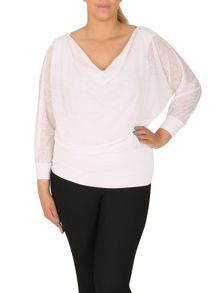 Samya Plus Size Semi-Sheer Batwing Top