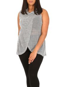Samya Plus Size Wrap Roll Neck Top