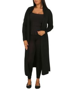 Samya Plus Size Longer Length Hooded Cardigan