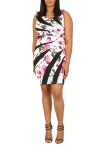 Samya Plus Size Bandeau Floral Mini Dress