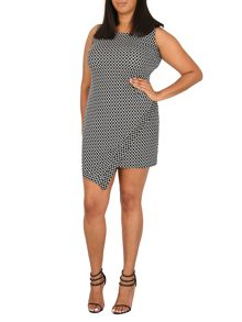 Samya Plus Size Geometric Cut Hem Dress