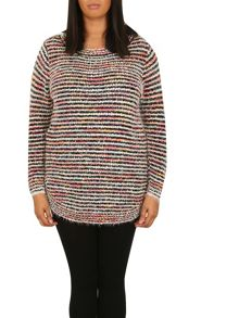Samya Plus Size Colour Smudge Jumper