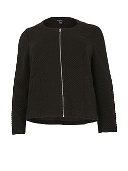 Plus Size Fitted Jacket