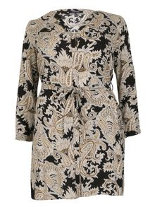 Samya Plus Size Paisley V-Neck Dress