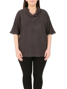 Samya Plus Size Cuddle Collar Jumper