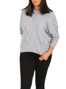 Samya Plus Size Marl Top
