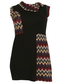 Samya Plus Size Elastane Cap Sleeve Dress