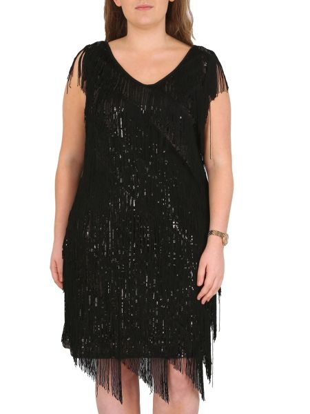 Samya Plus Sized Fringed Sequin Detail Top