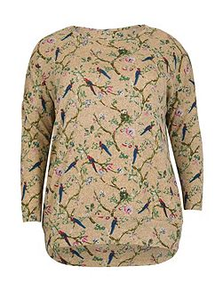 Plus Size Floral Swallow Top