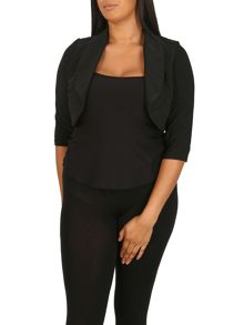 Samya Plus Size Bolero Top with High Collar