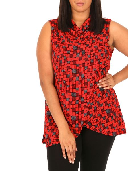 Samya Plus Size Cowl Neck Wrap Top