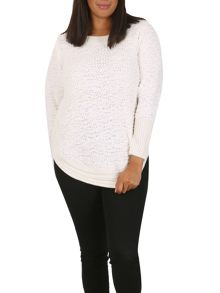 Samya Plus Size Textured Chenille Jumper