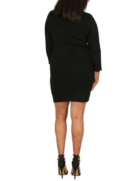 Samya Plus Size Colour Block Midi Dress