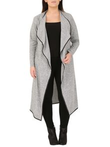 Samya Plus Size Draped Long-Line Cardigan