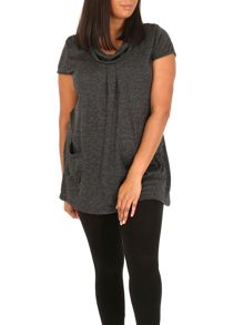 Samya Plus Size Knitted Pocket Detail Top