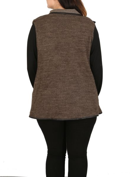 Samya Plus Size Asymmetric Fit Cardigan