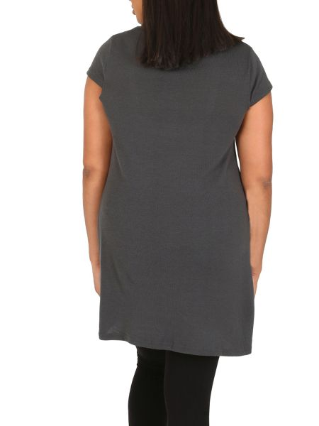 Samya Plus Size Tunic Top with Buttons
