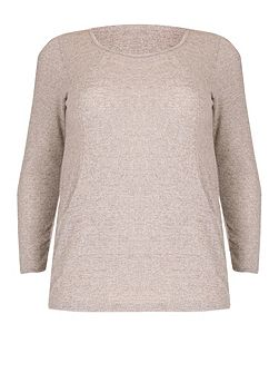 Plus Size Roll Neck Pocket Detail Top