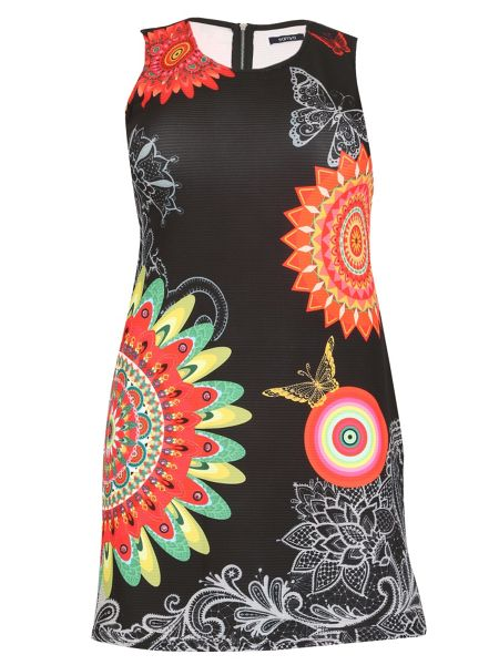 Samya Plus Size Abstract Print Fit&Flate Dress