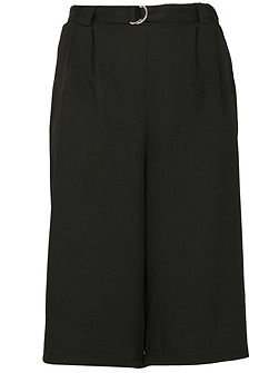 Plus Size Culottes With D-Ring Belt