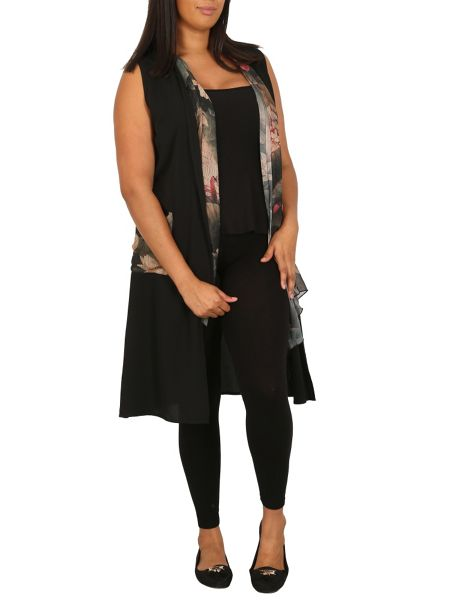 Samya Plus Size Longer-Length Drape Top