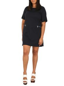 Samya Plus Size Zip Pocket Dress