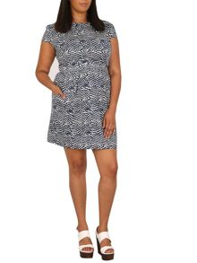 Samya Plus Size Abstract Print Dress