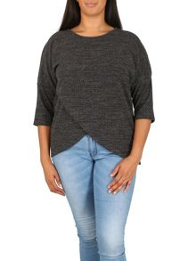 Samya Plus Size Asymmetric Wrap Front Top