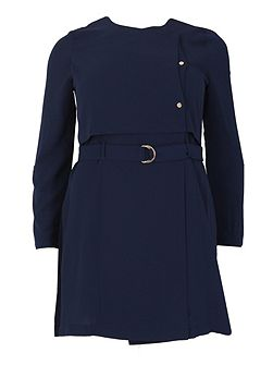 Plus Size Utility D-Ring Belted Jacket