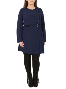 Samya Plus Size Utility D-Ring Belted Jacket