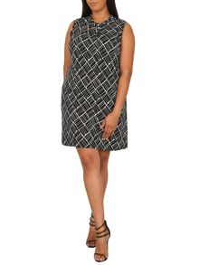 Samya Plus Size Geometric Print Dress
