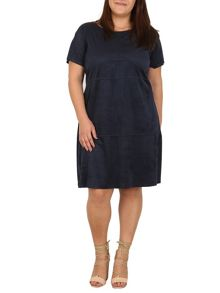 Samya Plus Size Faux Suede Shift Dress