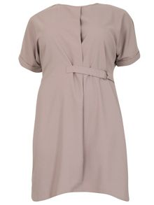 Samya Plus Size D-Belted Shirt Dress