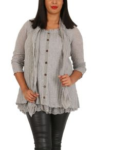 Samya Plus Size Waterfall Layered Top