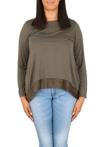 Samya Plus Size Lace-Up Back Detail Top