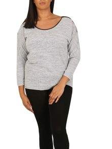 Samya Plus Size Trim Detail Batwing Top
