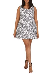 Samya Plus Size Floral Skater Dress