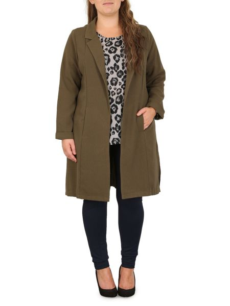 Samya Plus Size Mid Length Jacket