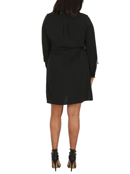 Samya Plus Size Shirt Dress With Feature Belt