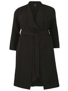 Samya Plus Size Belted Trench Coat